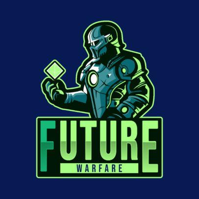 Gaming Logo Generator Featuring a Futuristic Soldier 4305b