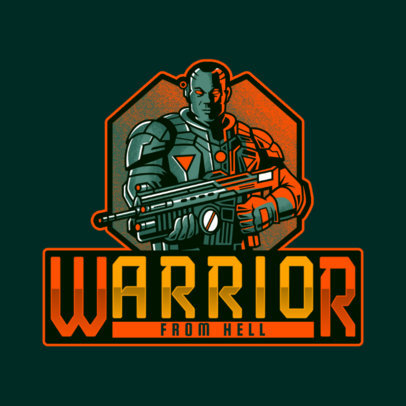 Gears of War-Inspired Logo Generator Featuring a Cool Character 4305g