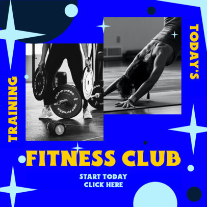 Instagram Post Maker for a Fitness Club 3639a