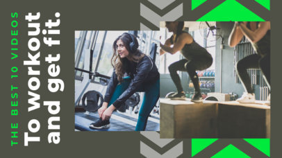 Fitness-Themed YouTube Thumbnail Design Template for Workout Channels 3642d