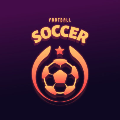 Minimal Logo Maker for Streamers Featuring a Soccer Theme 4326