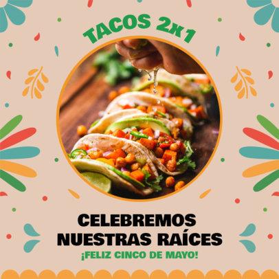 Instagram Post Design Template for a Cinco de Mayo Celebration Sale 3656