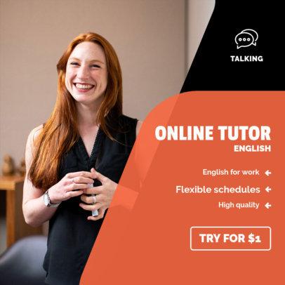 Instagram Post Maker for Online Tutoring Services 3842c-el1
