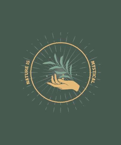 Mystical T-Shirt Design Generator Featuring a Hand Clipart 3899a-el1