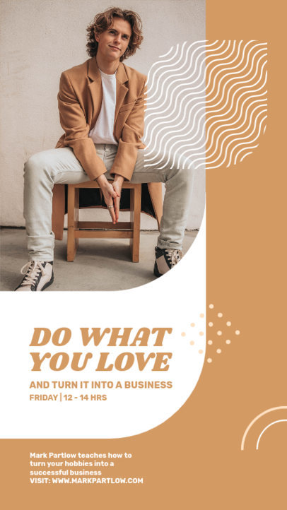 Instagram Story Design Template for a Business Course Featuring Minimal Graphics 3889d-el1