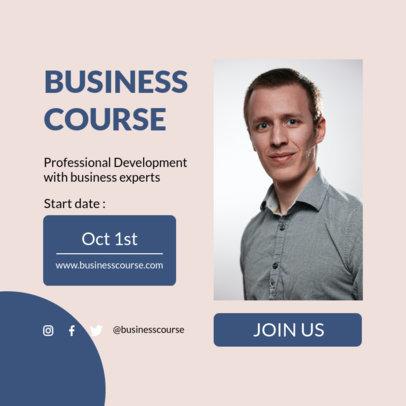 Instagram Post Design Maker to Announce a Business Course 3887a-el1