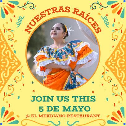 Instagram Post Maker for a Mexican Restaurant's Cinco de Mayo Celebration 3656e