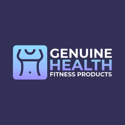 Fitness Products Logo Creator with a Minimalistic Graphic 3905f-el1