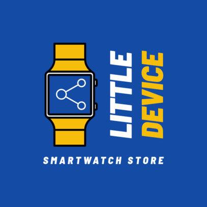 Technology Logo Maker for a Smartwatch Retailer 3907b-el1