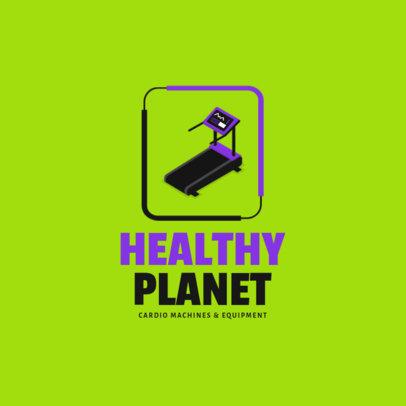 Fitness Equipment Logo Maker with a Treadmill Icon 3903e-el1