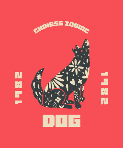 T-Shirt Design Generator With a Year of the Dog-Themed Illustration 3645j