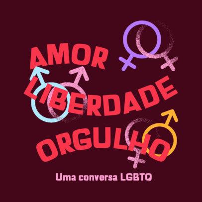 Podcast Cover Creator for a Brazilian LGBTQ Production 4320a