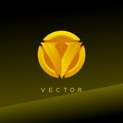 Logo Maker for Gamers Featuring a Golden Insignia 4324b