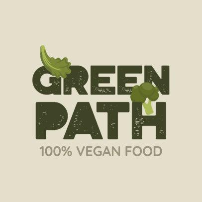 Vegan Food Logo Maker Featuring Icons of Veggies 4315h