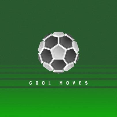 Soccer-Themed Logo Maker with a Minimal Emblem 4324c