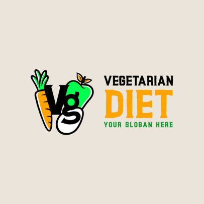 Online Logo Creator for a Vegetarian Products Brand 4318c