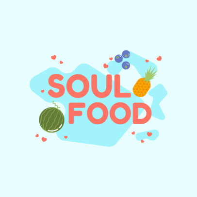 Logo Template for Healthy Food Brands Featuring Fruit Illustrations 4316a