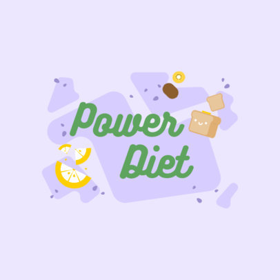 Logo Maker for a Diet Challenge Featuring Food Illustrations 4316f