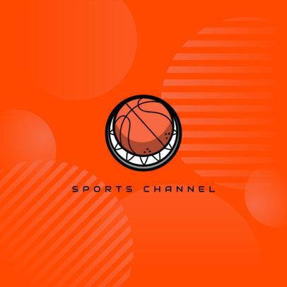 Minimal Logo Creator for a Basketball Channel 4324e