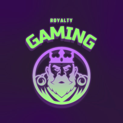 Logo Maker for Gamers with a King Graphic in a Round Emblem 4326g