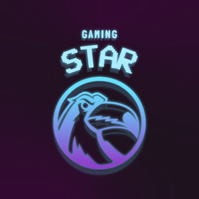 Gaming Logo Template with a Toucan Graphic 4326m