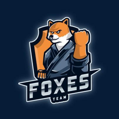 Team Logo Maker Featuring a Humanoid Fox Fighter 2296e-el1