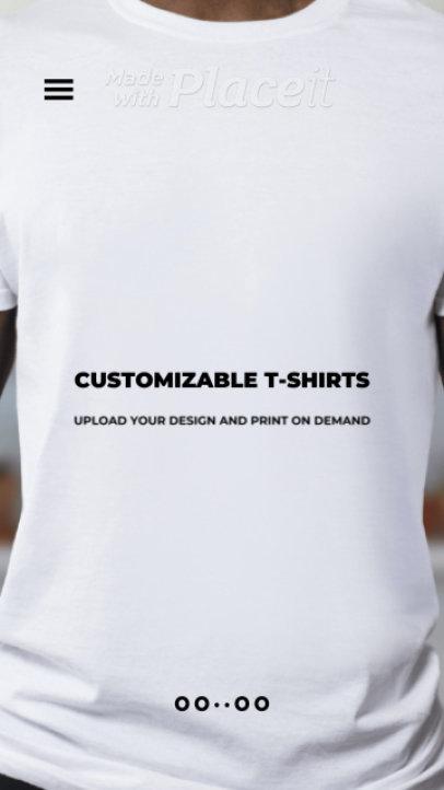 Instagram Story Video Creator for a Custom T-Shirt POD Store 2430a 3433 el1