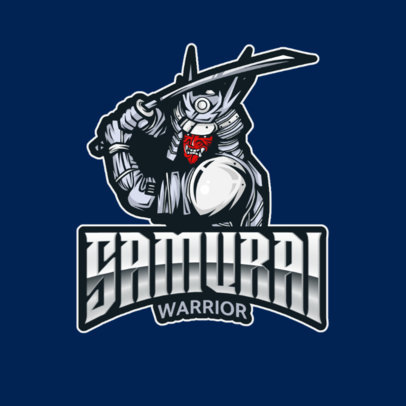 Logo Maker for a Gaming Squad Featuring a Samurai with a Katana 2271d-el1