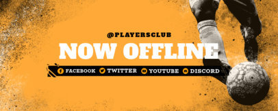 Twitch Banner Design Template with a Soccer Theme 3664