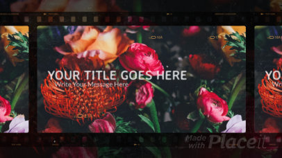 Slideshow Video Generator Featuring a Retro Film Aesthetic and a Logo Animation 2961-el1