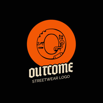 Lettering Logo Maker for a Clothing Brand with a Technological Style 260c-el1
