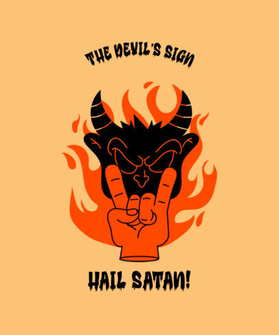 T-Shirt Design Generator Featuring a Devil Hand Shadow Puppet Illustration 3674g