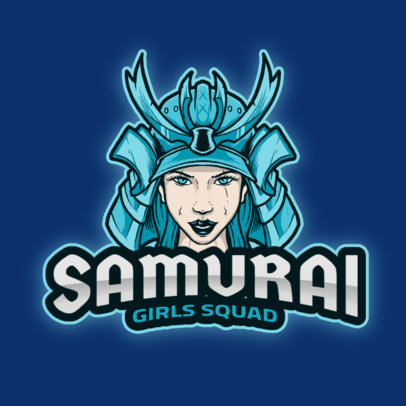 Samurai-Themed Logo Template for a Gaming Girl Squad 2940c-el1