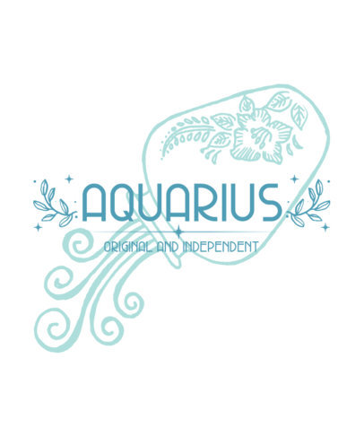 Zodiac-Themed T-Shirt Design Generator with an Aquarius Graphic 3922d-el1