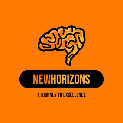 Minimalistic Education Logo Template with a Brain Graphic 3936b-el1