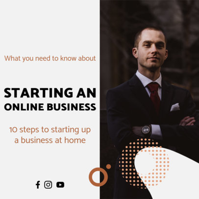 Instagram Post Maker for a Business Webinar Featuring a Simple Layout 3932c-el1