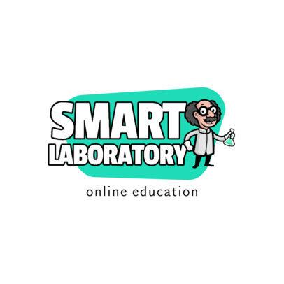 Education Logo Maker with a Scientist Cartoon 3940d-el1