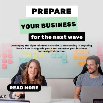 Entrepreneurship-Themed Instagram Post Design Template 3928a-el1