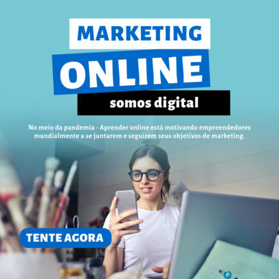 Instagram Post Design Creator with Online Marketing Tips 3928b-el1