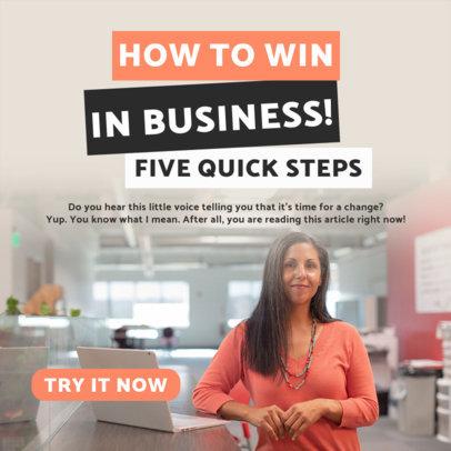 Instagram Post Design Generator with Business Tips Content 3928e-el1