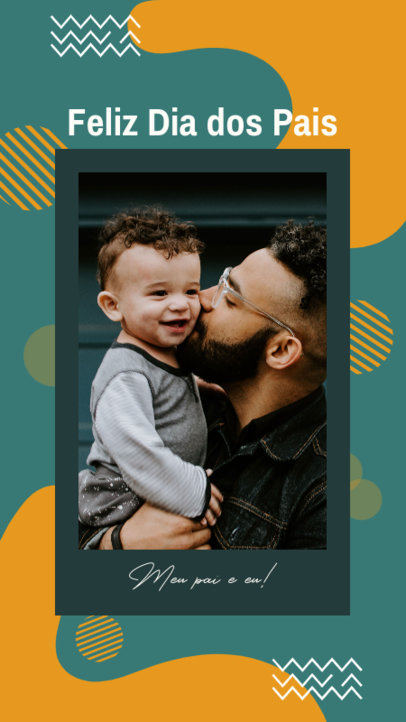 Father's Day-Themed Instagram Story Generator With a Quote and an Abstract Background 3667e