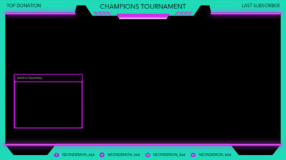 Neon-Colored Twitch Overlay Maker for a Sports Streamer 3663d