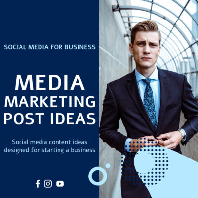 Business-Themed Instagram Post Template for Marketing Tips 3932a-el1
