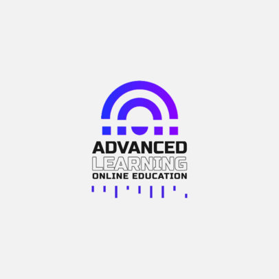 Online Education Logo Maker Featuring an Abstract Graphic 3942b-el1