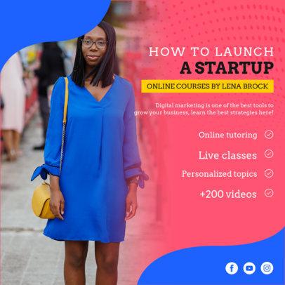 Instagram Post Maker for an Online Startup Course for Entrepreneurs 3924e-el1