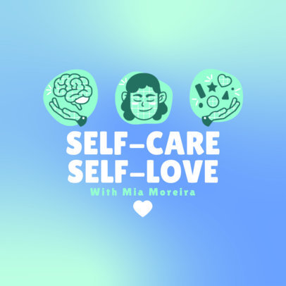 Sweet Podcast Cover Maker with a Self-Care Theme 4334a