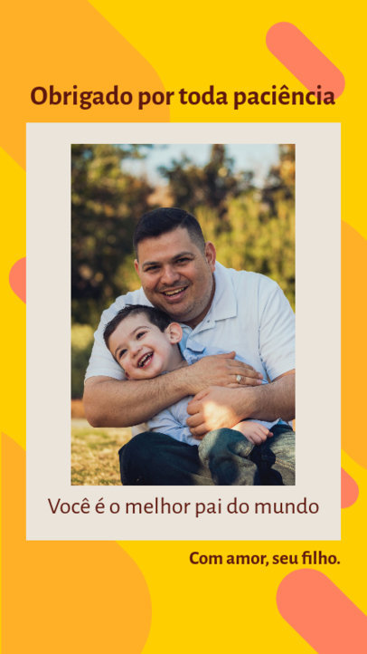 Instagram Story Template With a Father's Day Quote and a Picture Frame 3667d