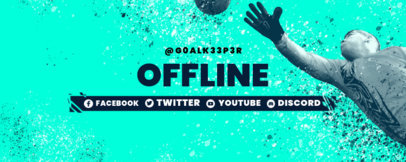 Sports-Themed Twitch Banner Design Maker with Soccer Graphics 3664c