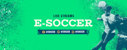 Twitch Banner Design Creator for a Soccer-Themed Channel 3664f