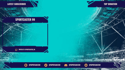 Twitch Overlay Design Template for Soccer Commentators 3664b